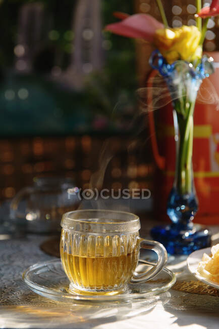 Still life of breakfast tea, Nyaung Shwe, Inle Lake, Burma — Stock Photo