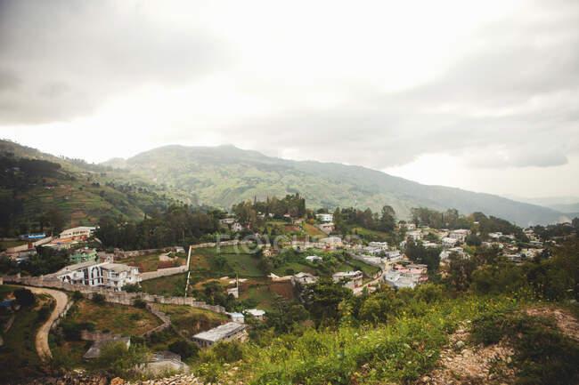 Вигляд на село Фермейте (Гаїті). — стокове фото