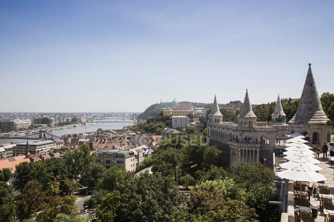 Buda Castle and Danube River, Budapest, Hungary — стоковое фото