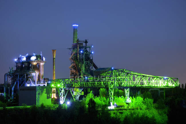 Coal And Steel Plant, North-Duisburg Park, Ruhr Region, Germania — Foto stock