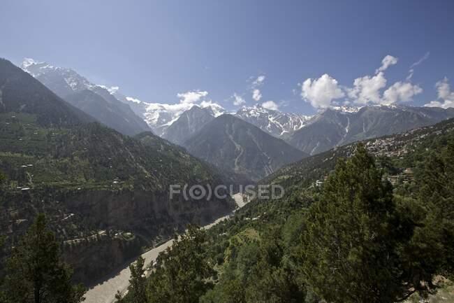 Sutlej river and valley, Nako, Himachal Pradesh, India, Asia — Stock Photo