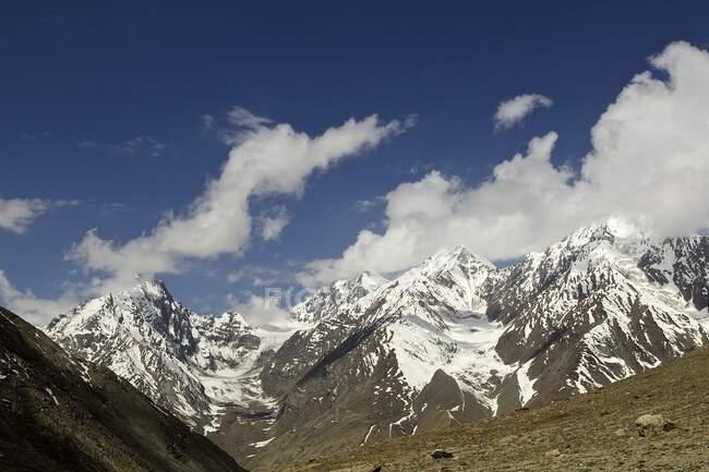 Kun Zum pass, Tandi, Himachal Pradesh, India, Asia — Stock Photo