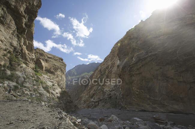Spiti river and valley, Nako, Himachal Pradesh, India, Asia — Stock Photo
