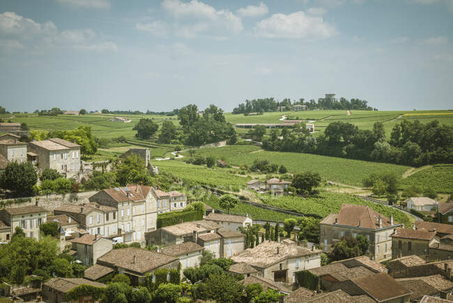 Rooftop view over Saint-Emilion, Aquitaine, France — Fotografia de Stock