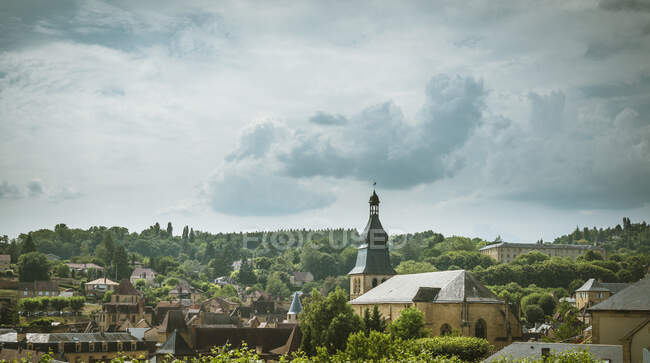 Rooftop view over Sarlat-le-caneda, Aquitaine, France — Fotografia de Stock