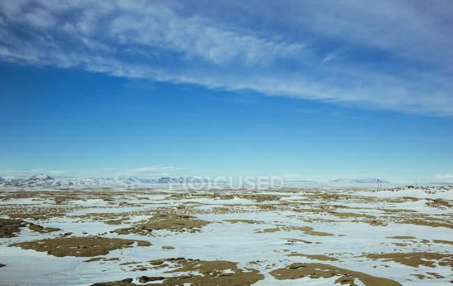 Vista dalla strada che conduce a Reykjavik, Islanda — Foto stock