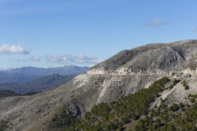 Mountain road, Andalusia, Spain — стоковое фото