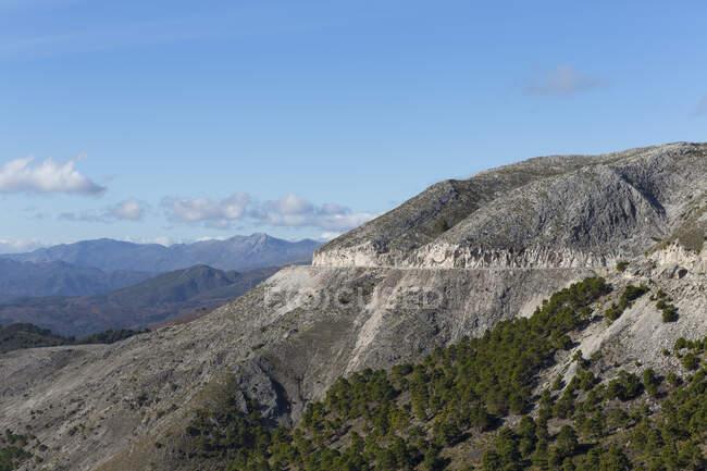 Mountain road, Andalusia, Spain — Foto stock