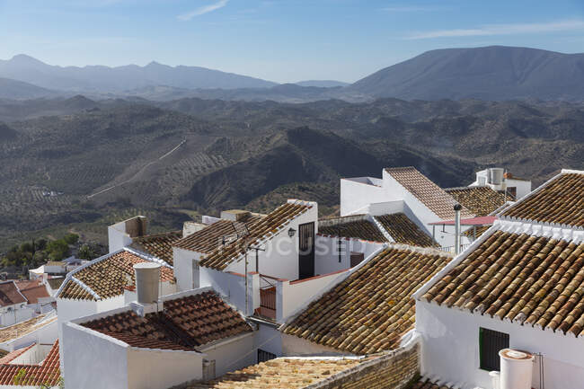 Landscape Olvera, Andalusia, Spain — стоковое фото