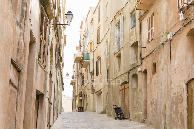 Old street, Bonifacio on the Island of Corsica — Stock Photo