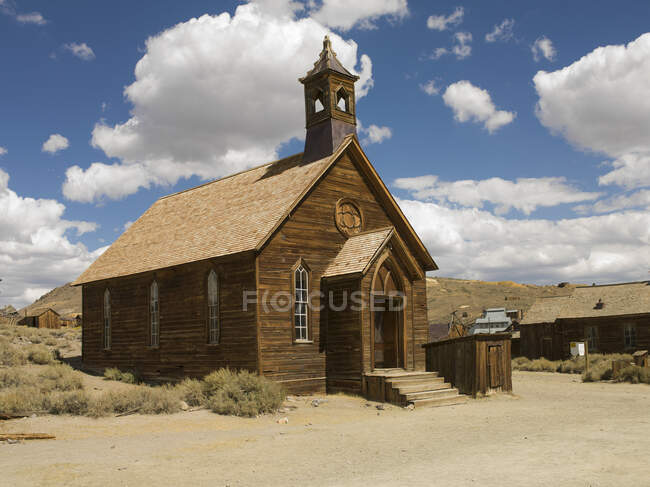 Покинута каплиця в місті привидів Боді, Національний парк Боді, Каліфорнія, США — стокове фото