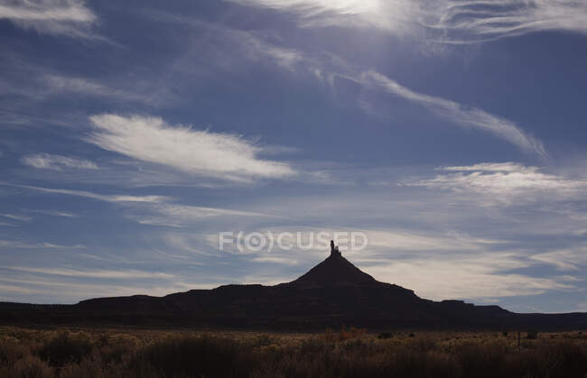 North Six Shooter rock formation in Indian Creek, Utah, USA — Stock Photo