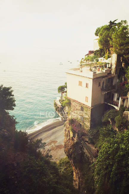 Cliff top apartment with sea view, Positano, Amalfi Coast, Italy — Stock Photo