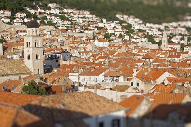 Вид на Rooftops, Dubrovnik, Croatia — стокове фото
