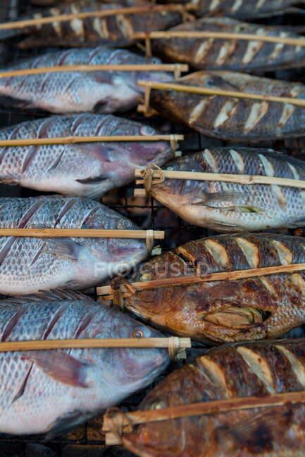 Закриття барбекю, Луанґпхабанґ, Лаос. — стокове фото