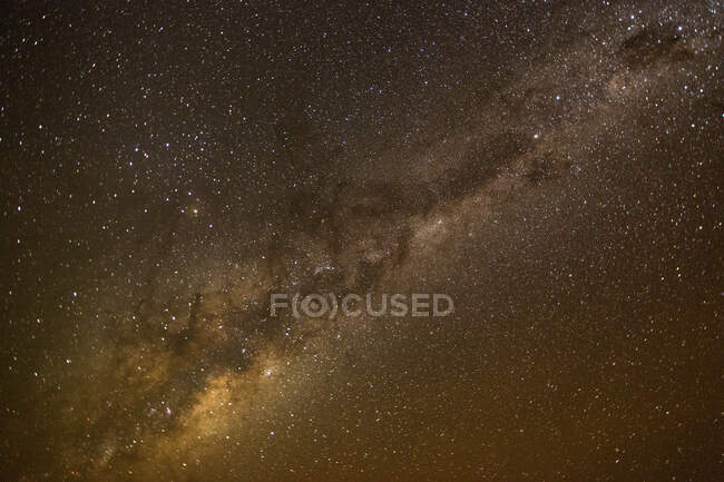 View of milky way stars shining in space — Stock Photo