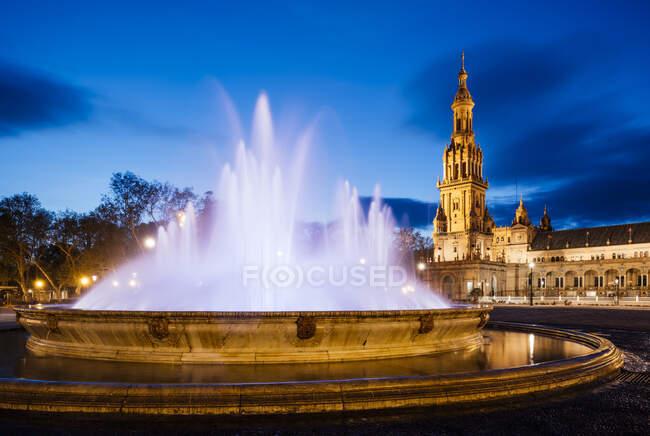 Exterior of Plaza de Espana, Seville, Andalucia, Spain — Stock Photo