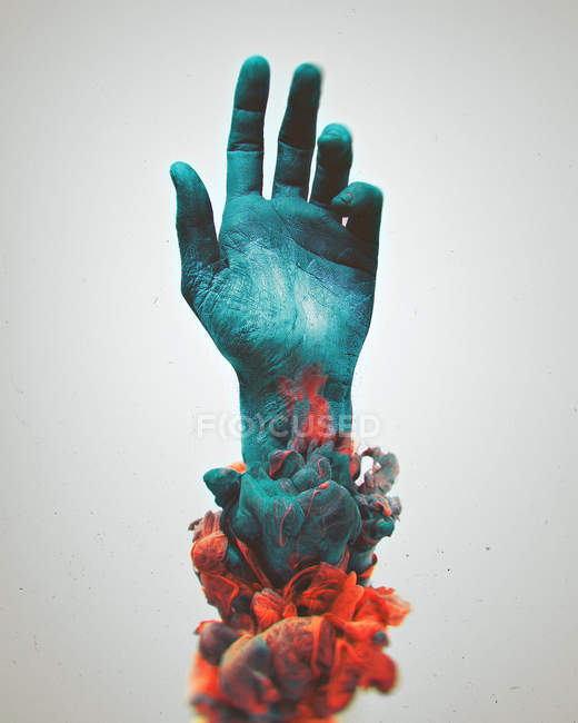 Painted colorful human hand — Stock Photo