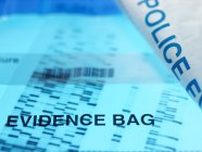 Forensic DNA autoradiogram — Stock Photo