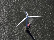 Wind turbine of windfarm in North Sea, England. — Stock Photo
