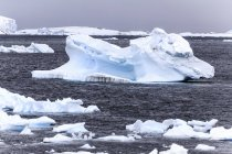 Scenic view of ocean iceberg in Antarctica. — Stock Photo