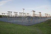 Sous-station électrique dans les West Midlands, Angleterre . — Photo de stock