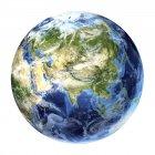 Вид со спутника в Азии — стоковое фото
