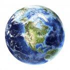 Вид со спутника Северной Америки — стоковое фото