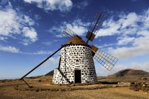 Stone wind mill on Fuerteventura, Canary Islands. — Stock Photo