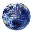 Вид со спутника Тихого океана — стоковое фото