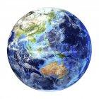 Австралазия на глобус Земли на белом фоне, цифровые изображения. — стоковое фото