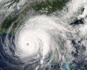 Satellitenbild des Hurrikans Iwan über dem Golf von Mexiko. — Stockfoto