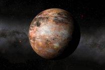 Ilustración digital del posible planeta de carbono . - foto de stock
