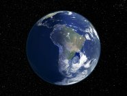Digital illustration of Earth centered on South America. — Stock Photo