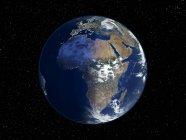 Illustration numérique de terre centrée sur l'Afrique. — Photo de stock