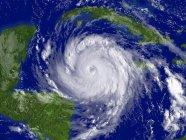 Satellitenbild von Hurrikan-Dekan über Karibik. — Stockfoto