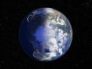 Illustration numérique de terre centrée sur l'Arctique. — Photo de stock