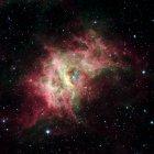 Región de nacimiento estrella RCW 49 nebulosa . - foto de stock