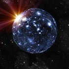 Spherical or closed universe — Stock Photo