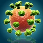 Rhinovirus - cause du rhume — Photo de stock