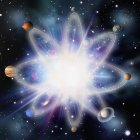 Планеты Солнечной системы — стоковое фото