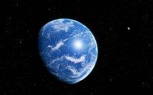 Hypothetical alien planet — Stock Photo