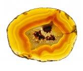 Coupe section transversale de l'agate minérale . — Photo de stock