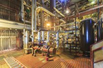 Caustic and acid mixing area of electric power plant. — Stock Photo