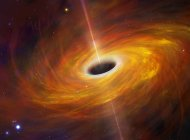 Illustration of black hole in space. — Stock Photo