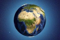 La Tierra vista desde el espacio - foto de stock