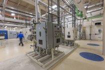 Panneaux de contrôle matériel traitement plantes d'eau. — Photo de stock