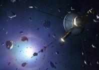 Digitales Kunstwerk der Voyager-Sonde auf der Oortschen Wolke. — Stockfoto