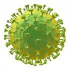 Partícula del virus Nipah, ilustraciones digitales . - foto de stock