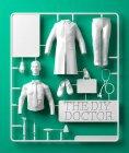 Kit de modelo médico sobre fundo verde, ilustração digital. — Fotografia de Stock